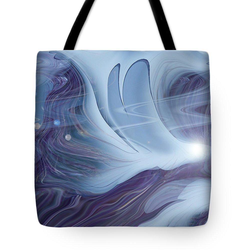 Abstract Tote Bag featuring the digital art Spirit World by Linda Sannuti