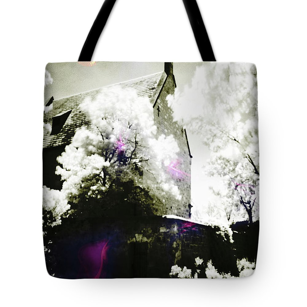 Spirit Tote Bag featuring the photograph Spirits And Church by Phill Petrovic