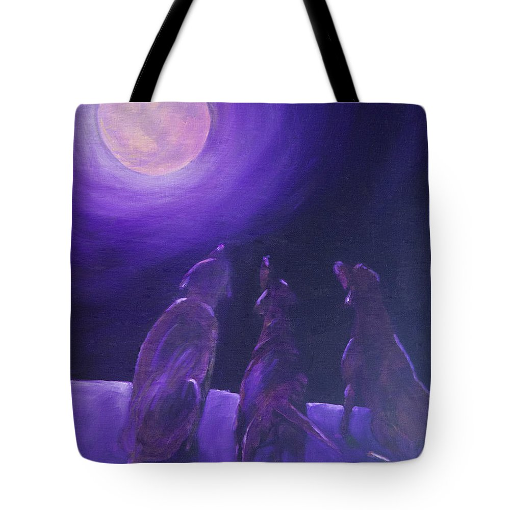 Labrador Retriever Tote Bag featuring the painting Spirits In The Night by Roger Wedegis