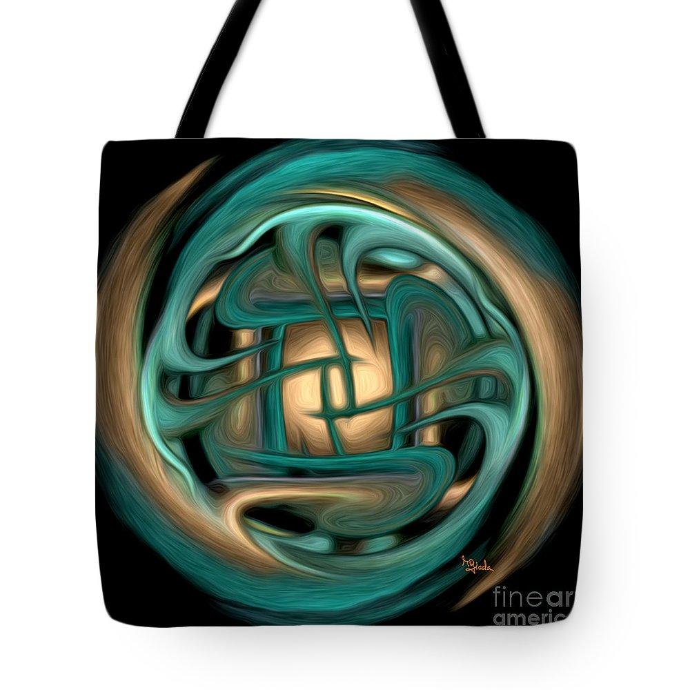 #rgiada Tote Bag featuring the digital art Spiritual Art - Healing Labyrinth By Rgiada by Giada Rossi