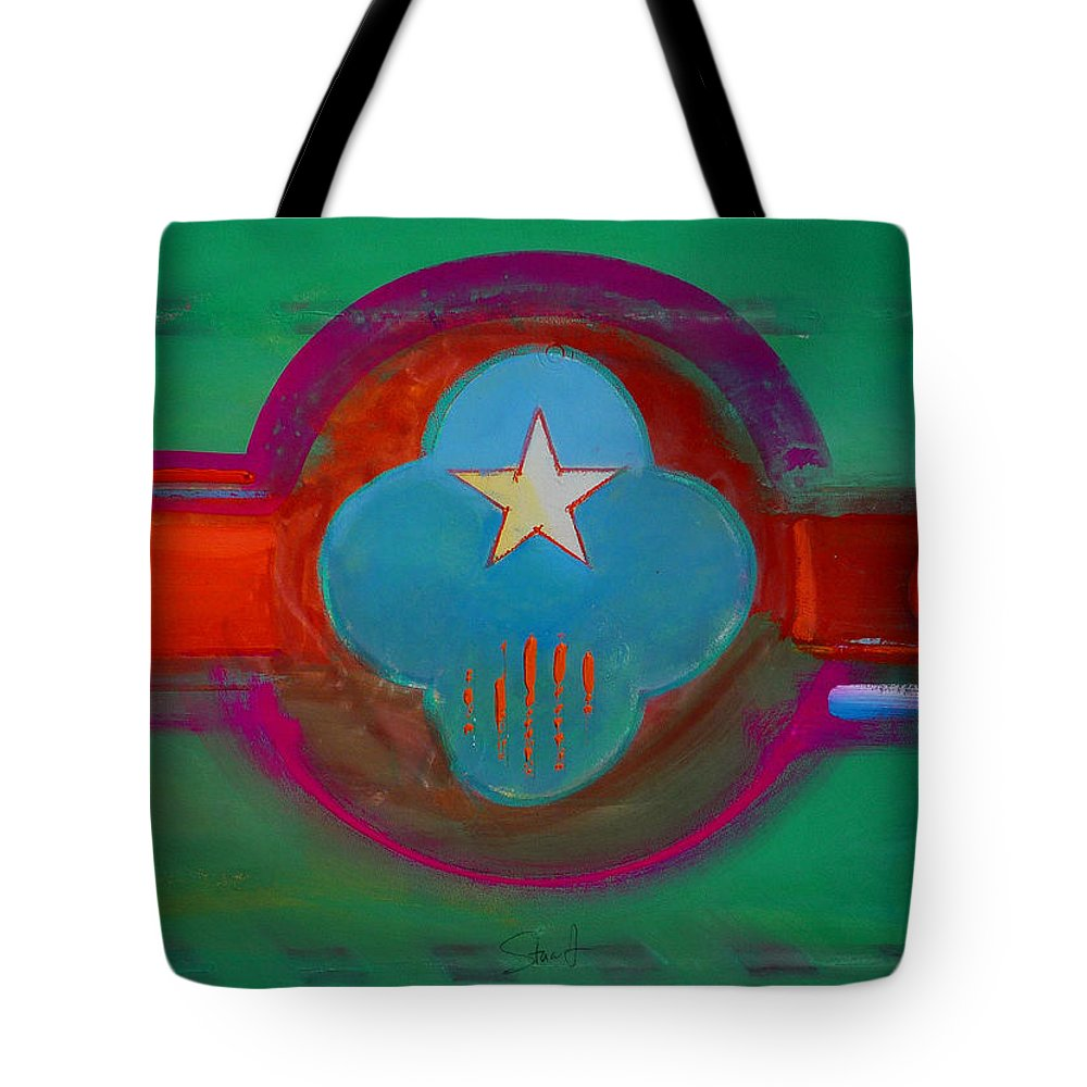 Star Tote Bag featuring the painting Spiritual Green by Charles Stuart