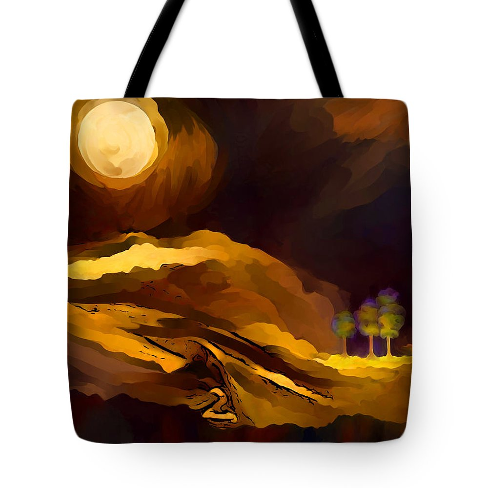 Spiritual Landscape Tote Bag featuring the painting Spiritual Landscape by Cristina Edelman