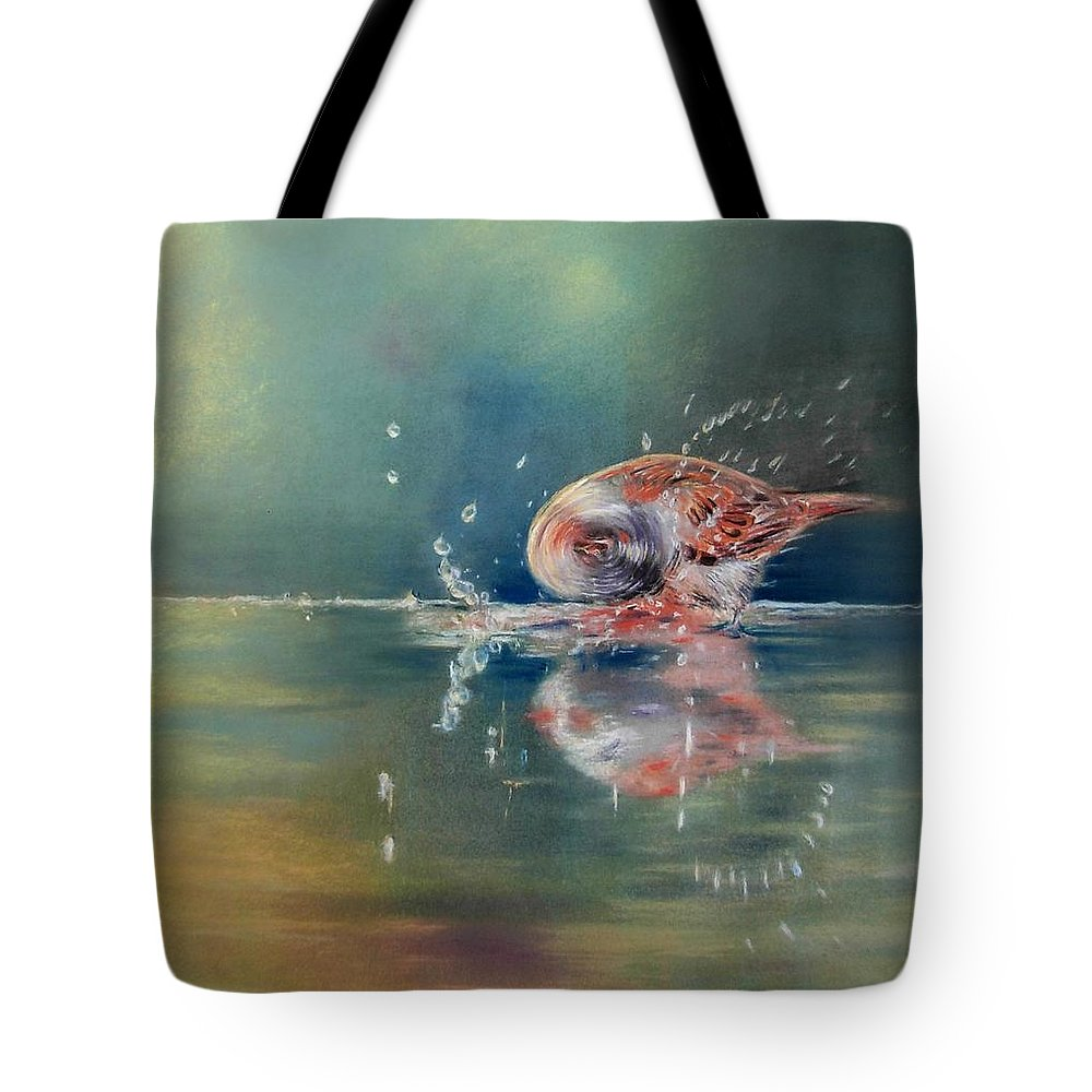 Nature Tote Bag featuring the painting Splash by Ceci Watson