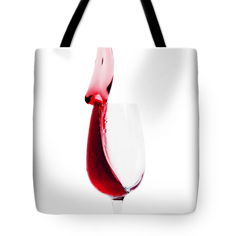 Wine Tote Bag featuring the photograph Splash by Delphimages Photo Creations