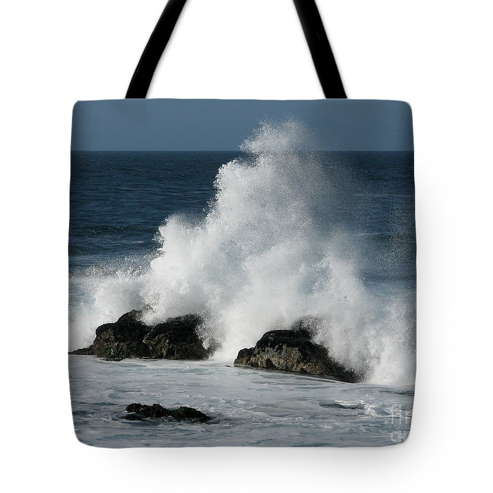 Pacific Grove Tote Bag featuring the photograph Splash Pyramid by James B Toy