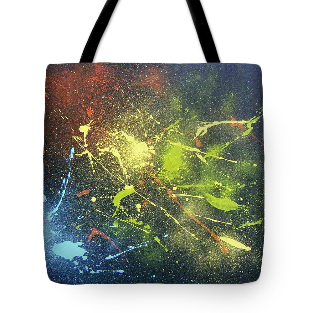 Splash Tote Bag featuring the painting Splash by Olaoluwa Smith