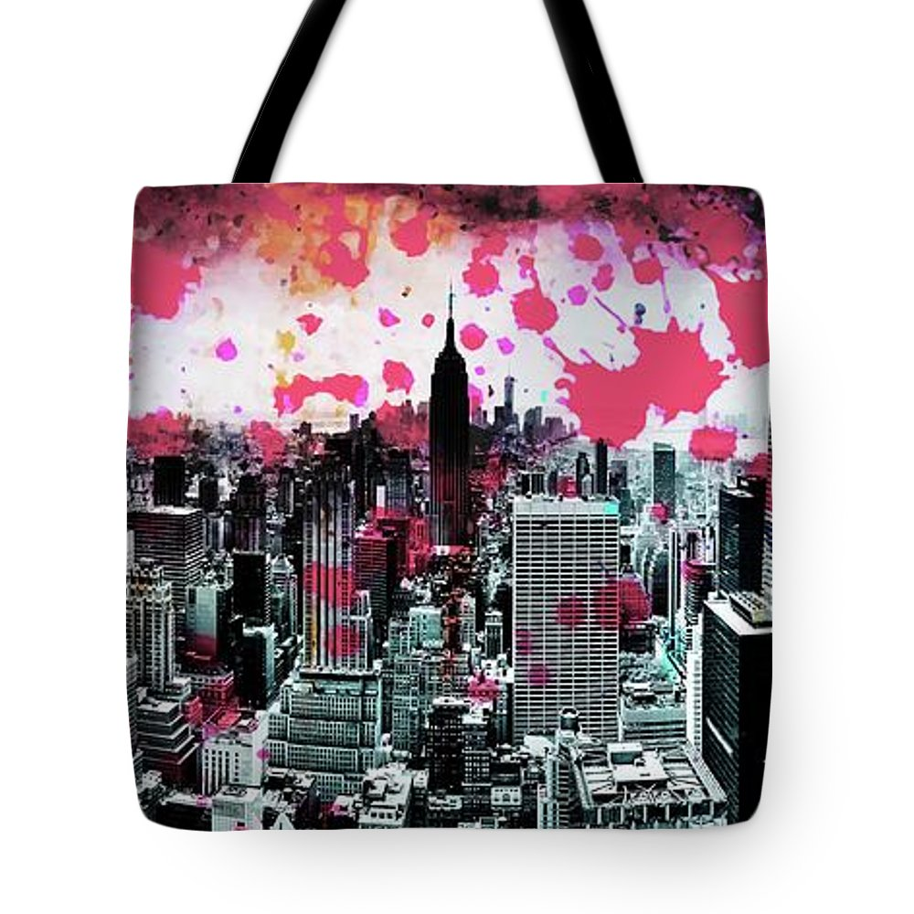 Empire State Building Tote Bag featuring the photograph Splatter Pop by Az Jackson