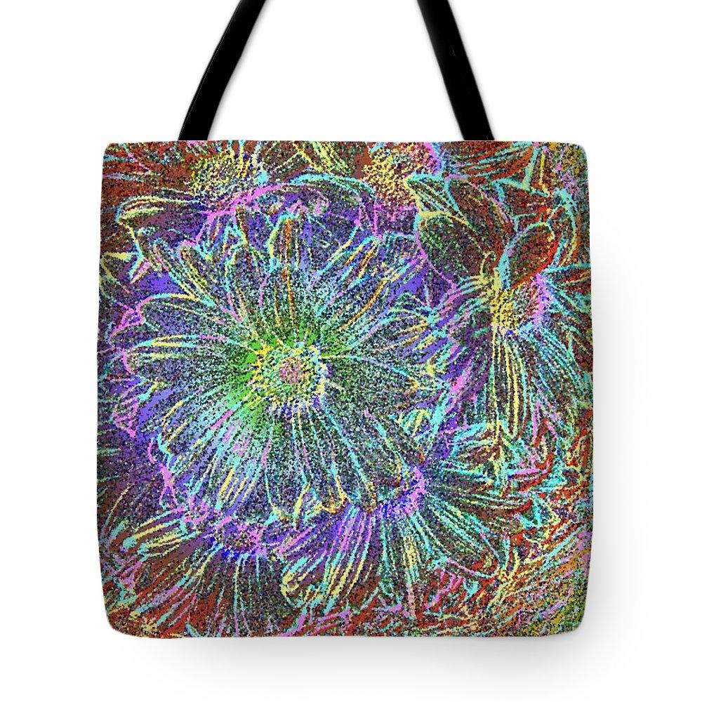 Flowers Tote Bag featuring the digital art Splendid Florish by Tim Allen