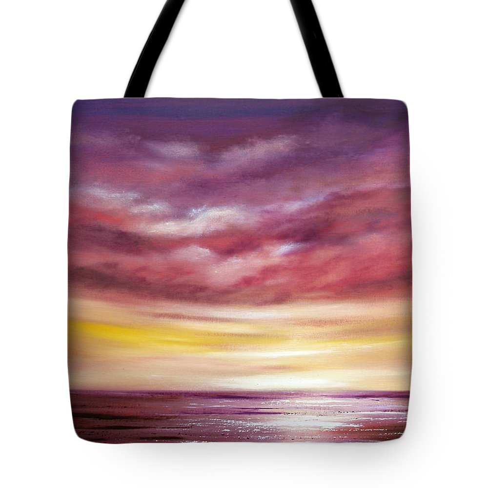 Sunset Tote Bag featuring the painting Splendid by Gina De Gorna