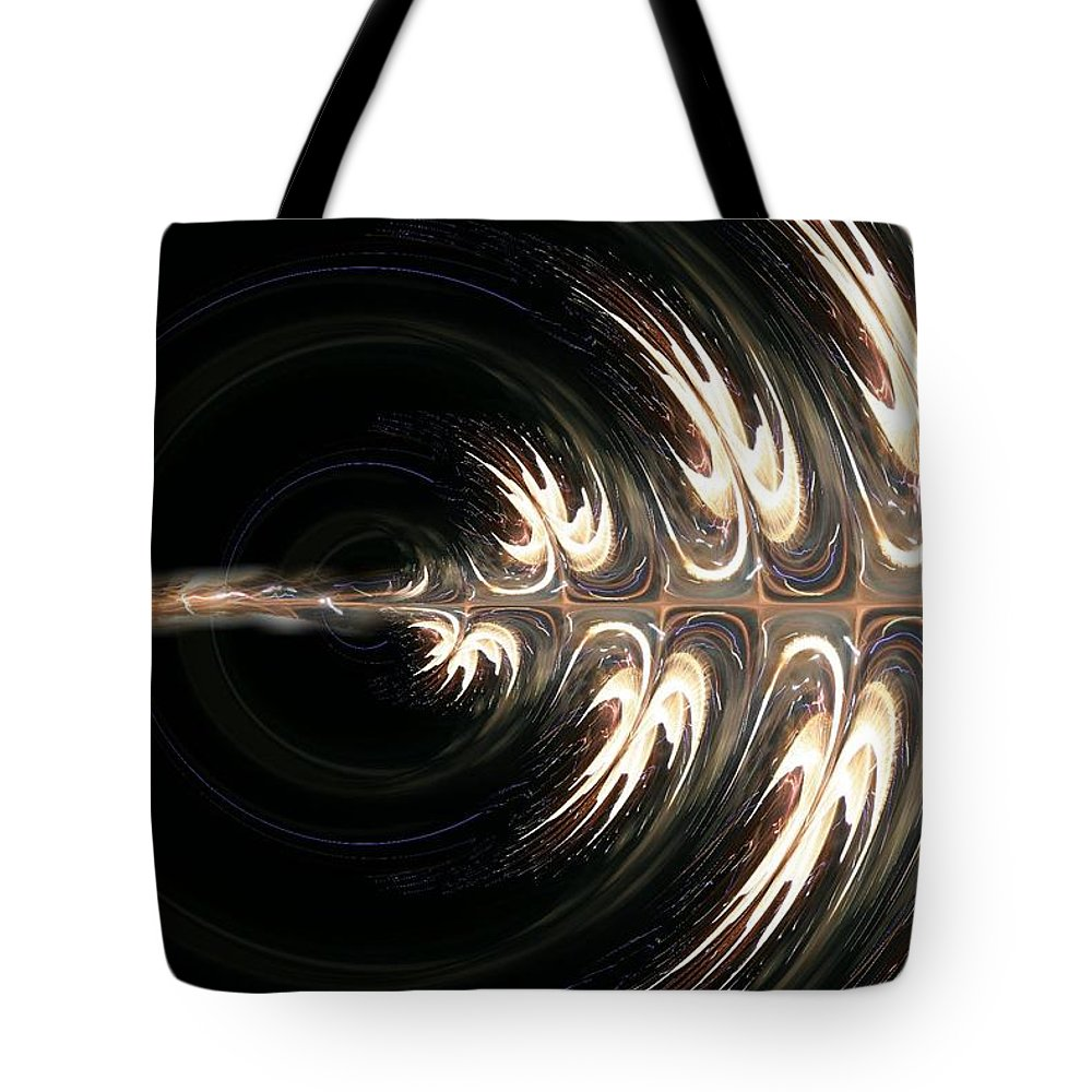 Blue Green Lights Abstracts Tote Bag featuring the digital art Splendor by Rabecca Primeau