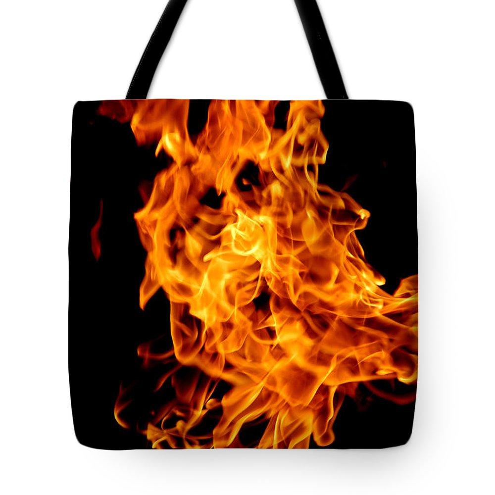 Usa Tote Bag featuring the photograph Spooky Hot Spirit Fire Michigan by LeeAnn McLaneGoetz McLaneGoetzStudioLLCcom