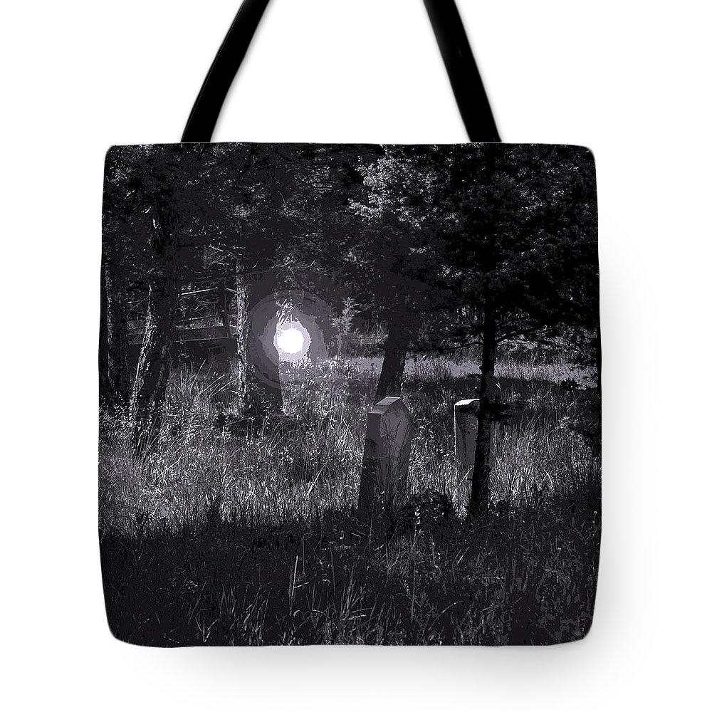 Digital Creation Tote Bag featuring the photograph Spooky Spirit by D Nigon