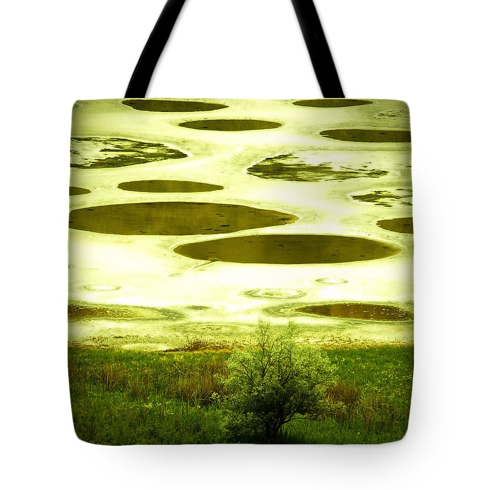 Spotted Lake Tote Bag featuring the photograph Spotted Lake by Tara Turner