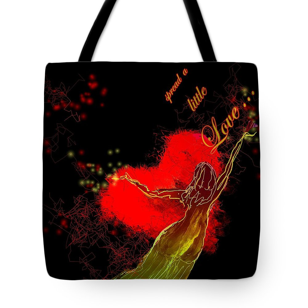 Love Tote Bag featuring the painting Spread A Little Love by Miki De Goodaboom