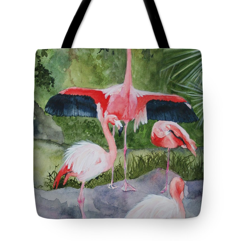 Wings Tote Bag featuring the painting Spreading My Wings by Jean Blackmer