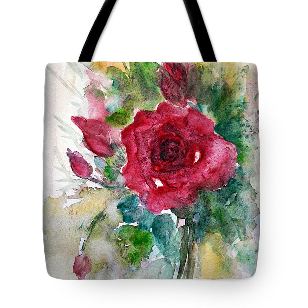 Flowers Tote Bag featuring the painting Spring For You by Jasna Dragun