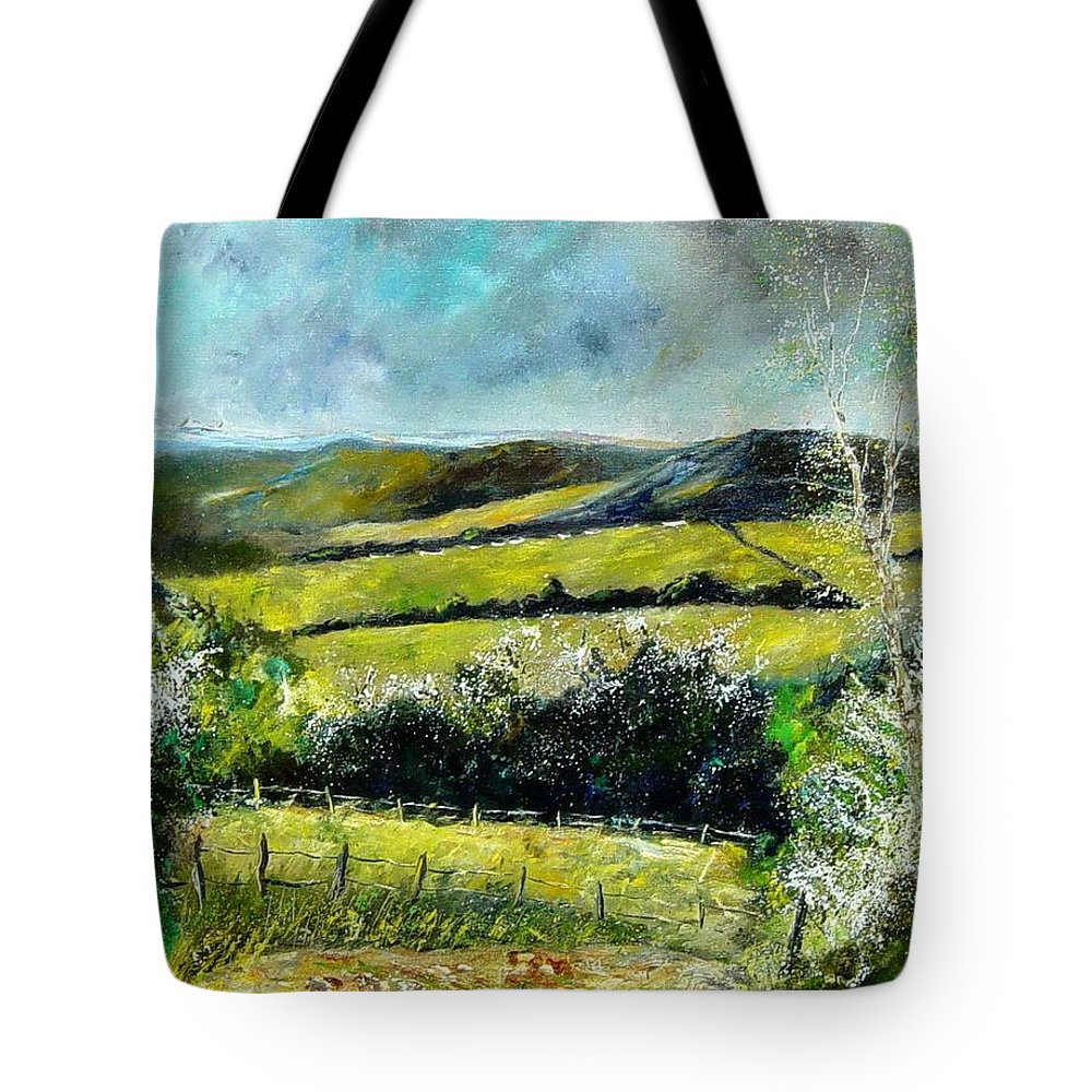 Landscape Tote Bag featuring the print Spring 79 by Pol Ledent