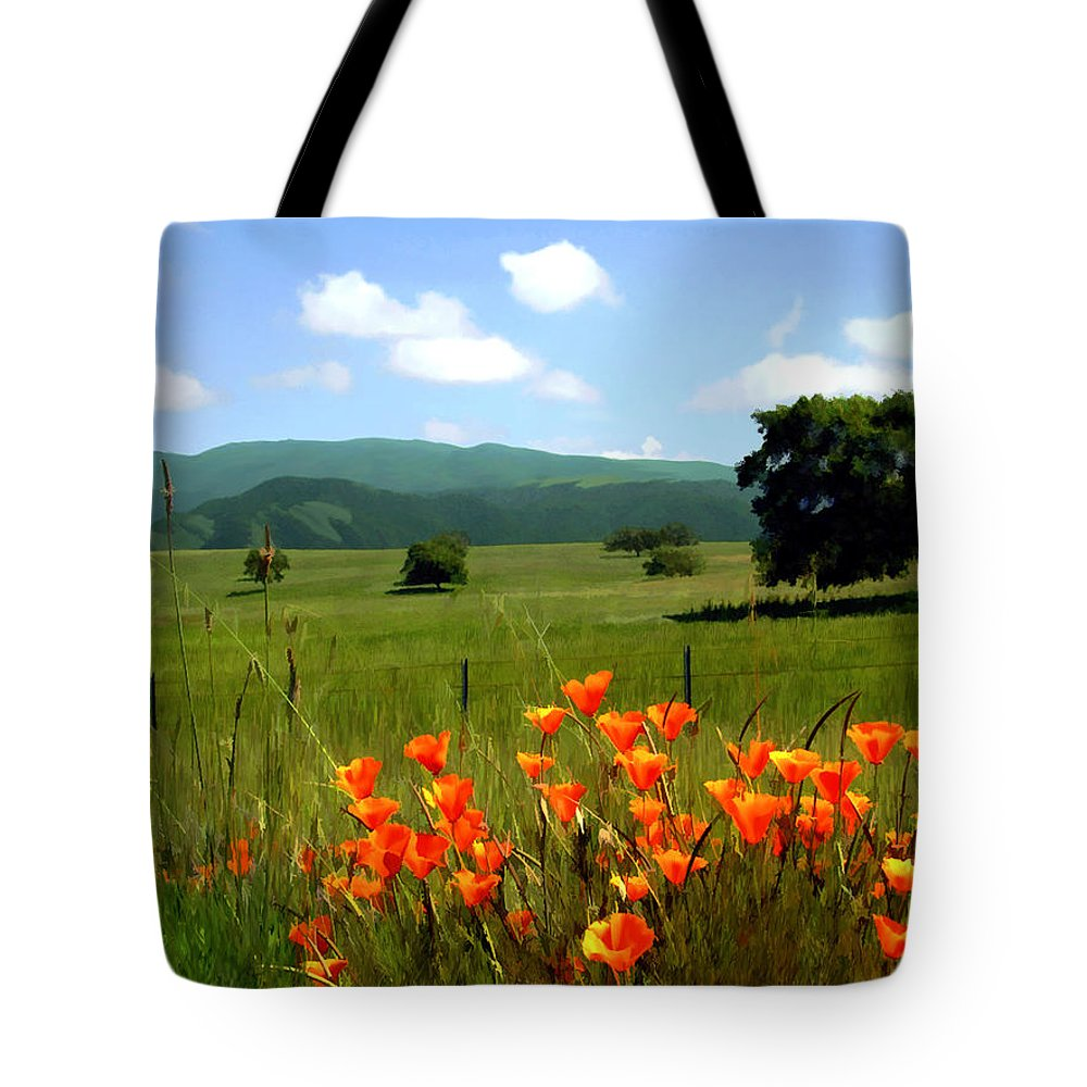 Poppies Tote Bag featuring the photograph Spring At Gainey Ranch by Kurt Van Wagner
