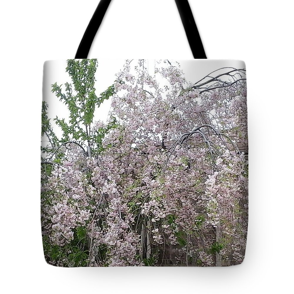 Purple Tree Tote Bag featuring the photograph Spring Blooms by Peggy Chambers