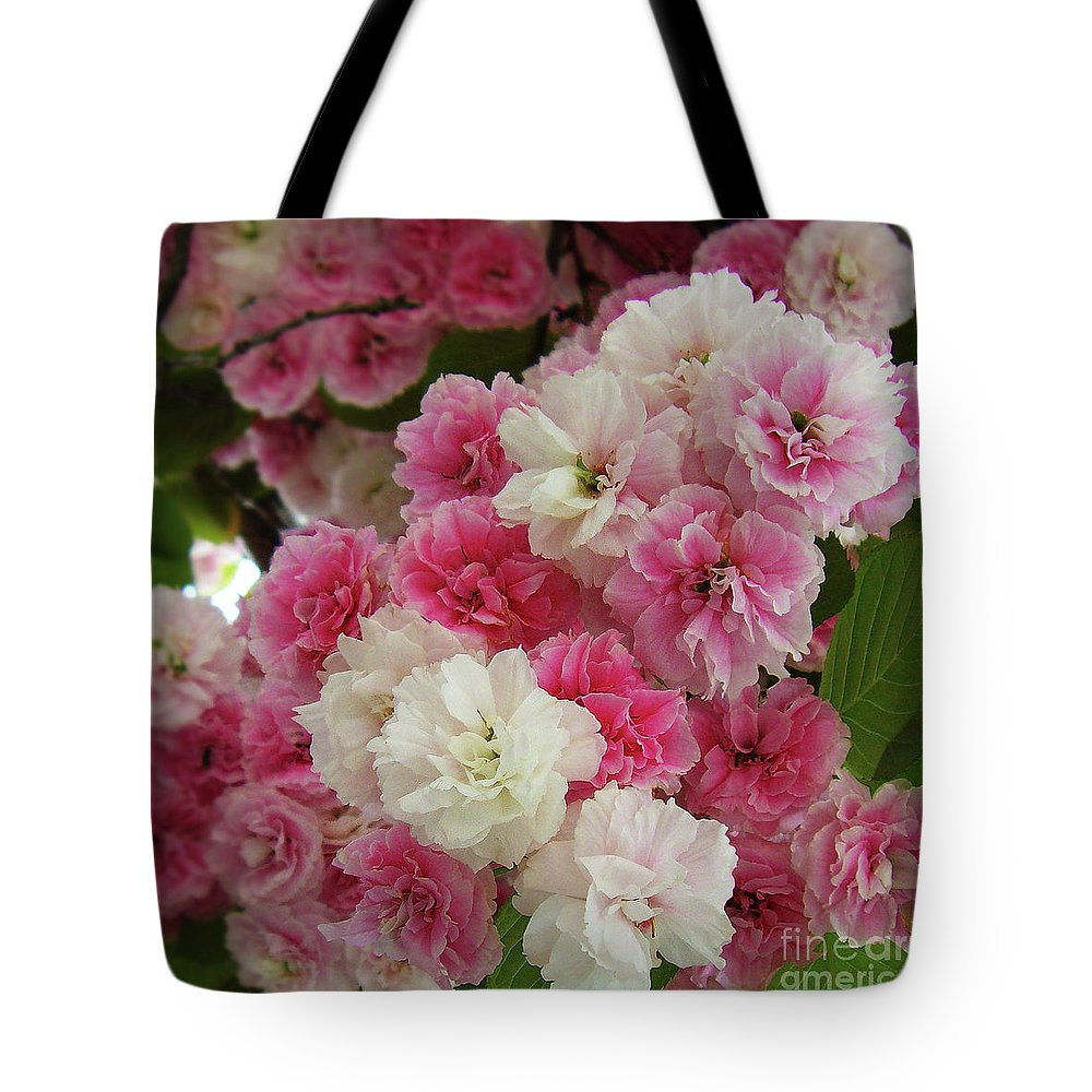 Pink Flowers Tote Bag featuring the photograph Spring Blossom 3 by Xueling Zou