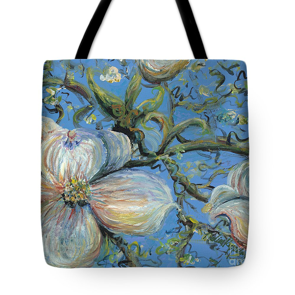 Flower Tote Bag featuring the painting Spring Blossoms by Nadine Rippelmeyer