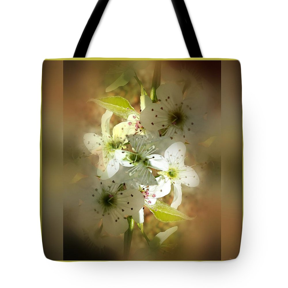 Spring Tote Bag featuring the photograph Spring Blossoms by Therese Felter