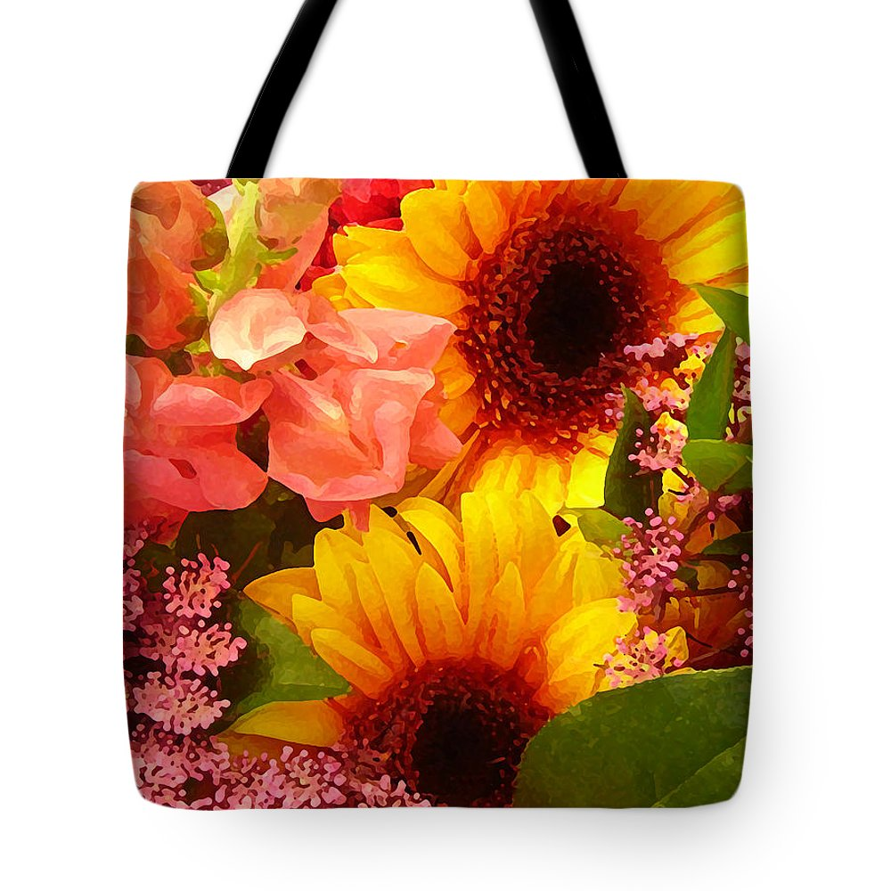 Roses Tote Bag featuring the photograph Spring Bouquet 1 by Amy Vangsgard