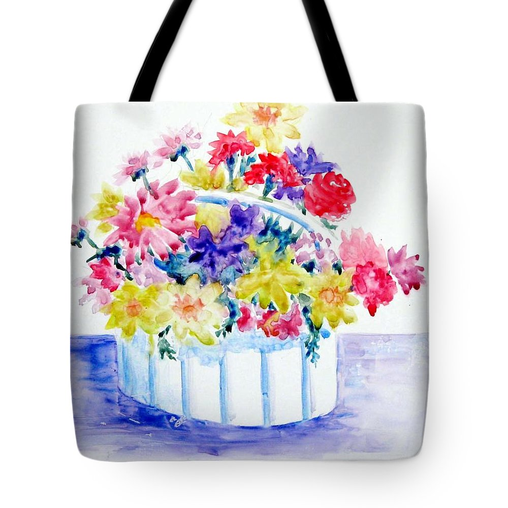 Flowers Tote Bag featuring the painting Spring Bouquet by Marsha Elliott