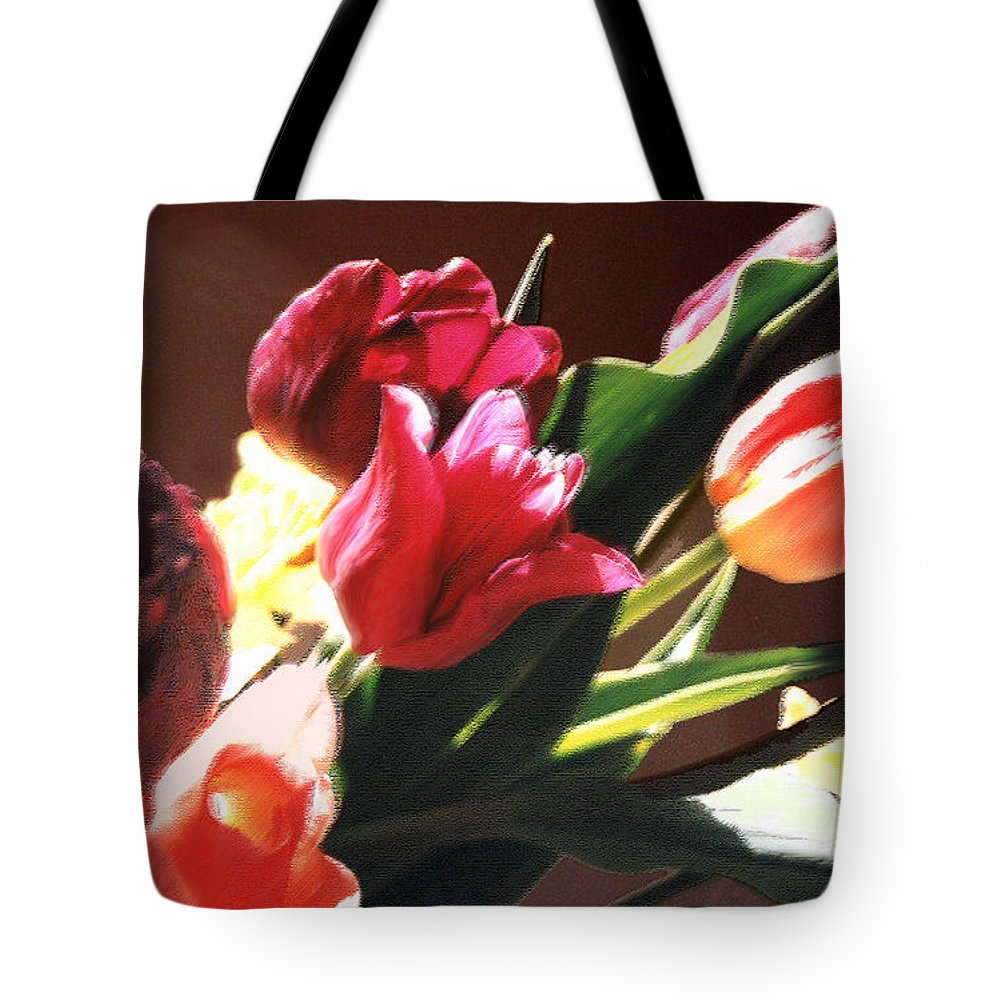 Floral Still Life Tote Bag featuring the photograph Spring Bouquet by Steve Karol