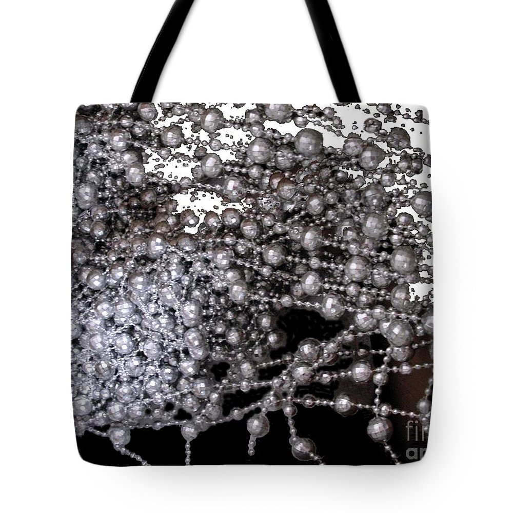 Beadwork Tote Bag featuring the digital art Spring Breakup by Ron Bissett
