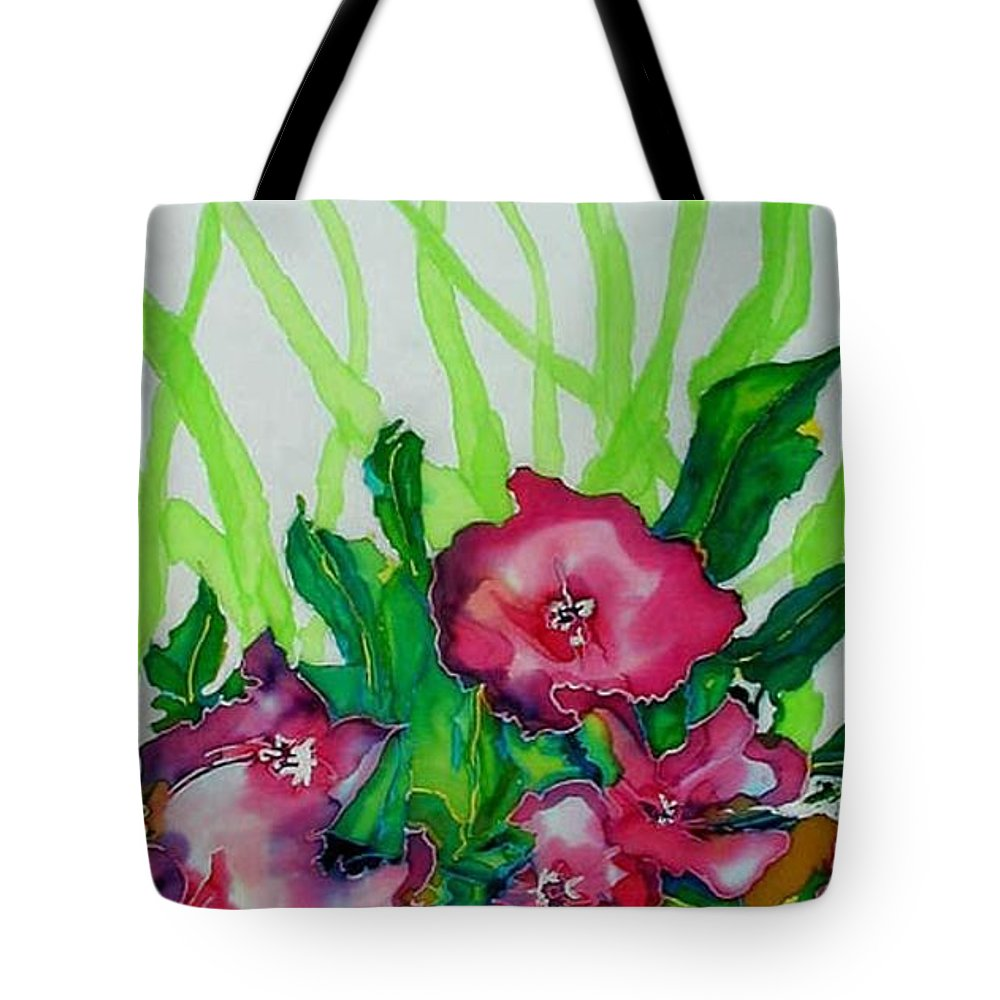 Flora Tote Bag featuring the painting Spring Celebration 1 by Ferril Nawir