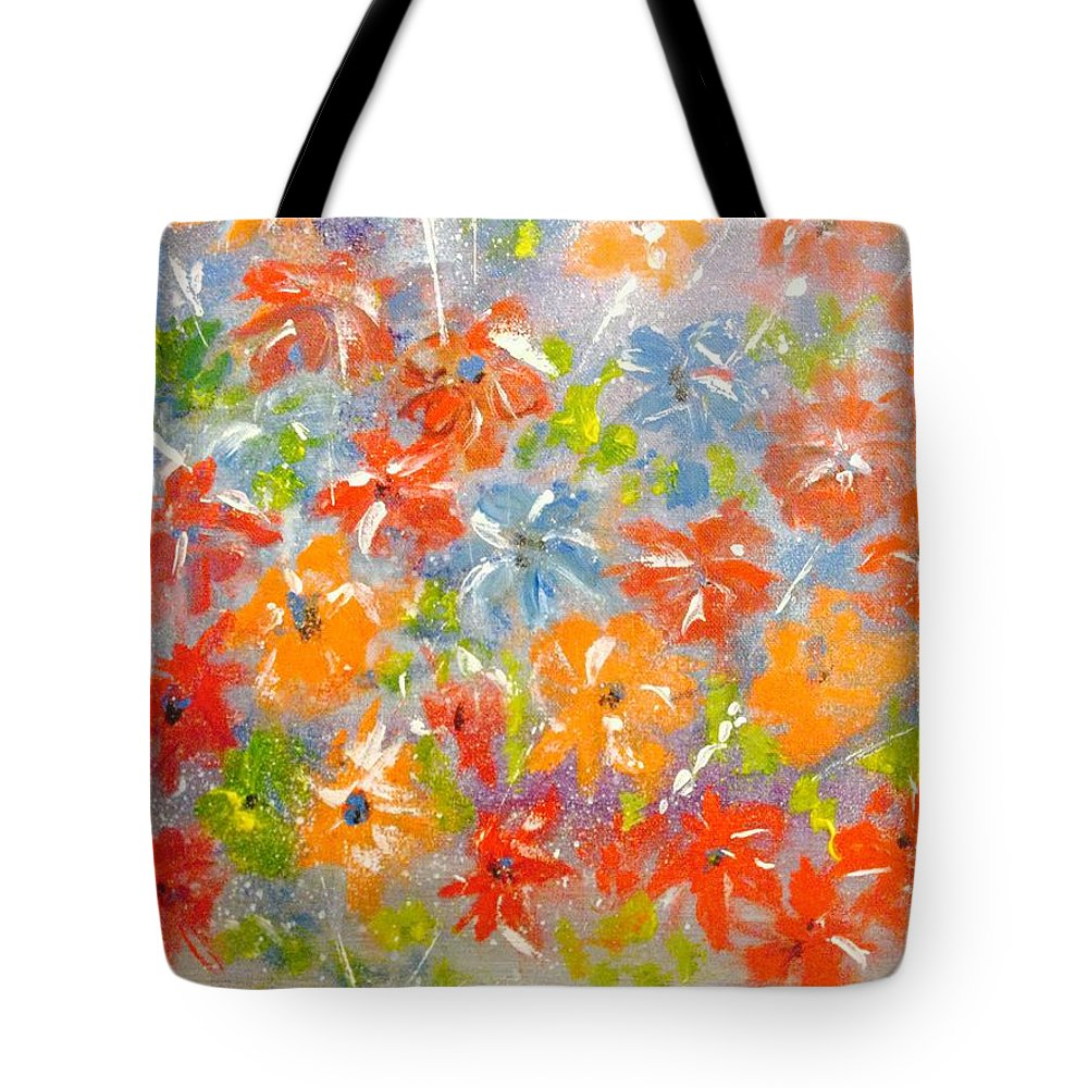Spring Tote Bag featuring the painting Spring by Colette Acra