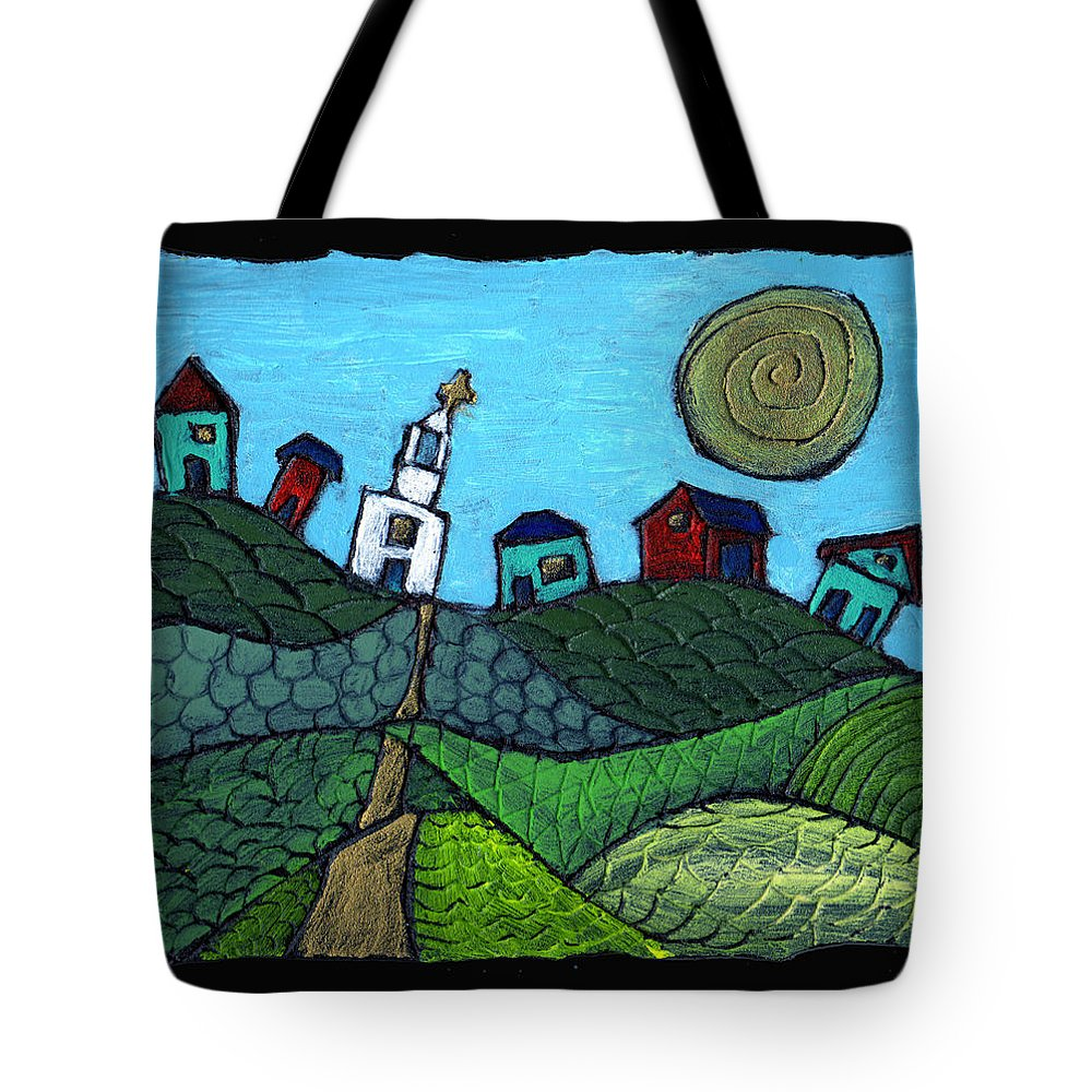 Whimsical Tote Bag featuring the painting Spring Comes To The Valley by Wayne Potrafka
