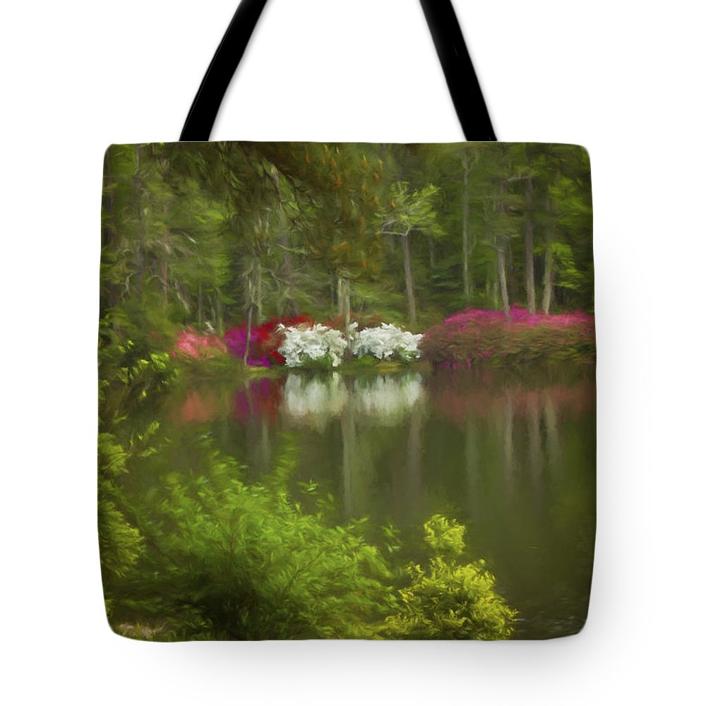 Landscape Photography Tote Bag featuring the photograph Spring Daze by Mary Buck