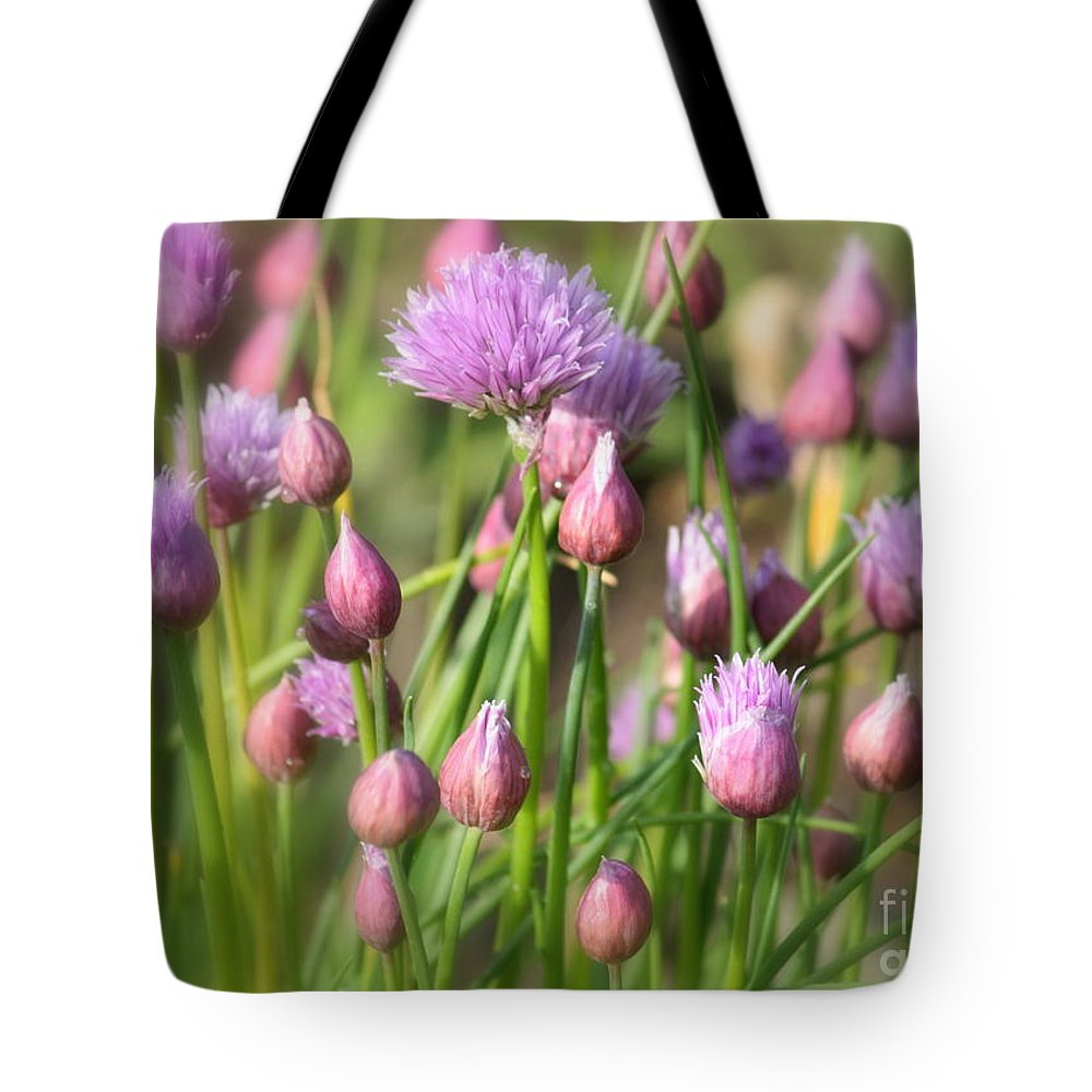 Chive Tote Bag featuring the photograph Spring Dreams by Carol Groenen