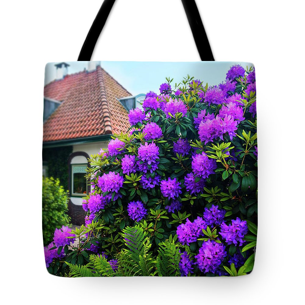 Architecture Tote Bag featuring the photograph Spring Dutch Garden by Ariadna De Raadt