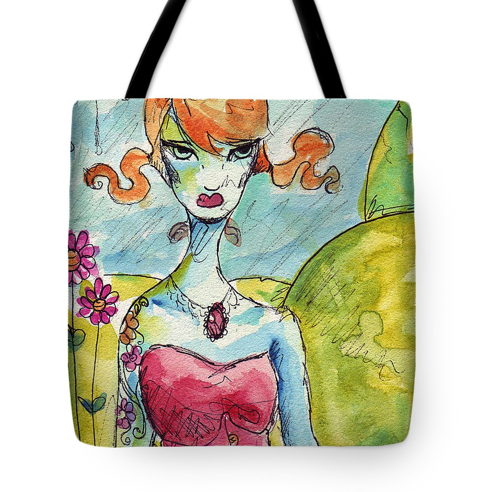 Watercolor Tote Bag featuring the painting Spring by Ela Steel