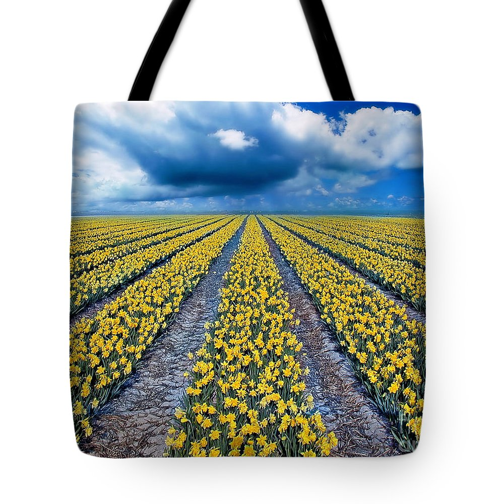 Flowers Tote Bag featuring the photograph Spring Fields by Jacky Gerritsen