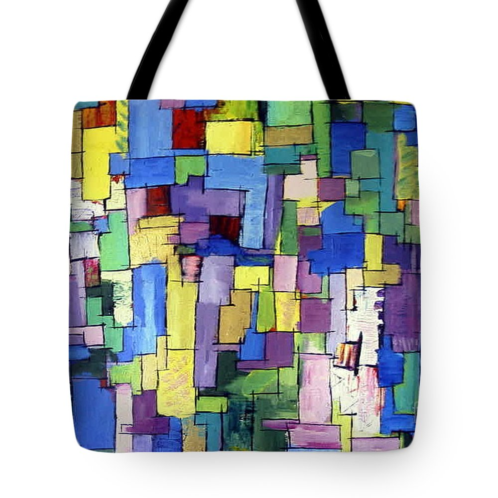 Spring Fling Tote Bag featuring the painting Spring Fling by Dawn Hough Sebaugh