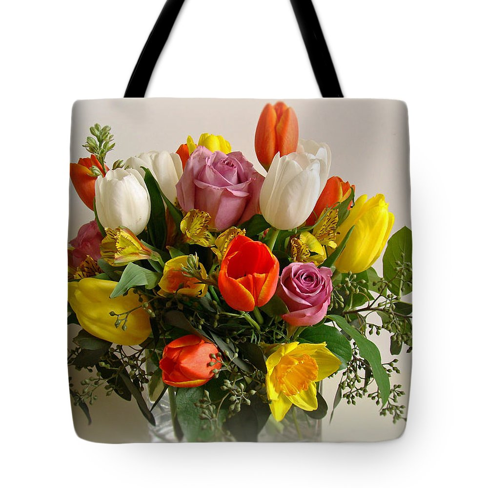 Flowers Tote Bag featuring the photograph Spring Flowers by Sandy Keeton
