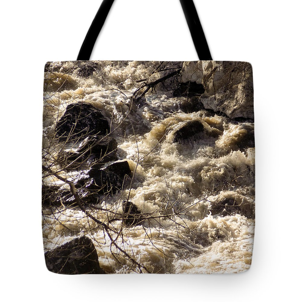 Spring Tote Bag featuring the photograph Spring Freshet by William Tasker