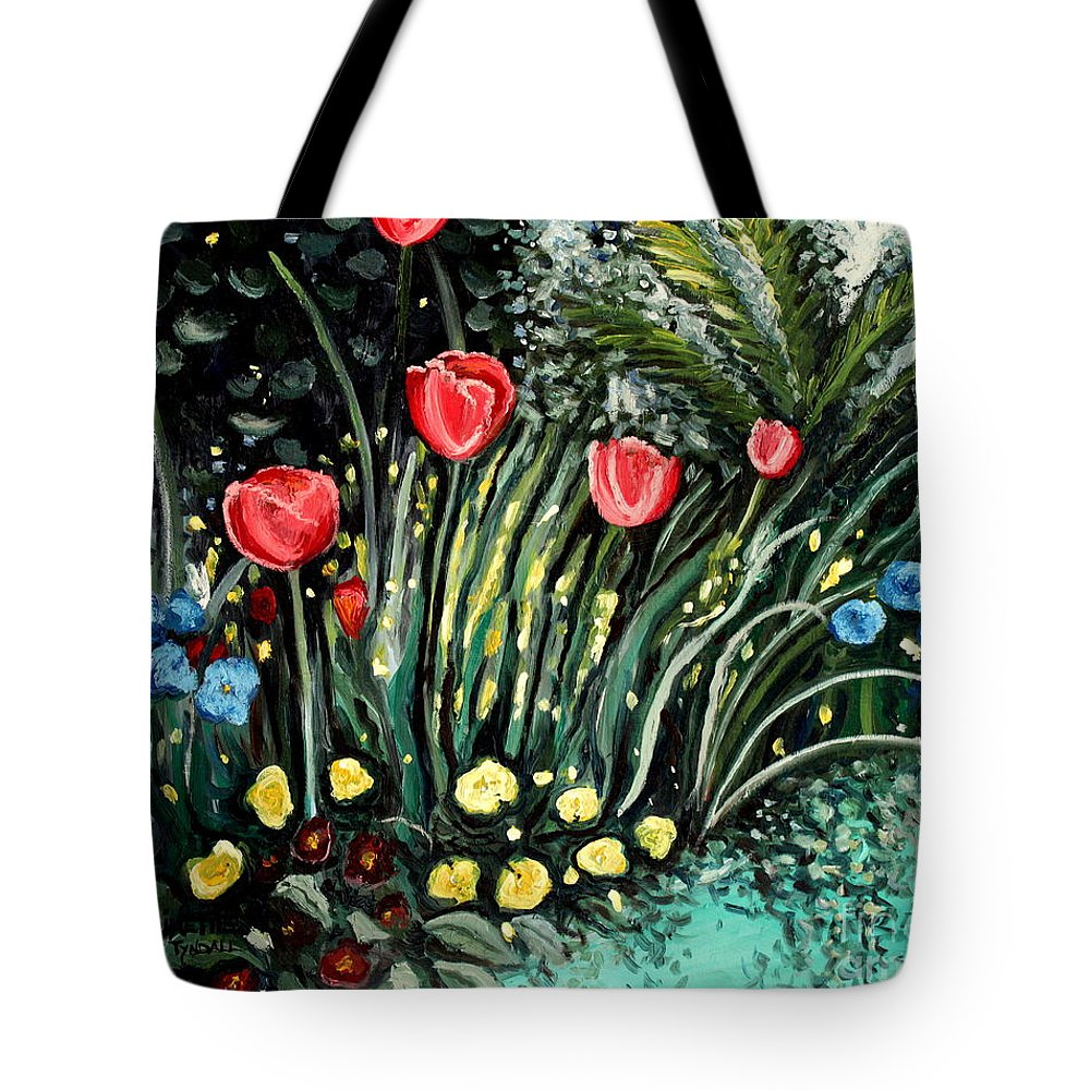Impressionistic Tote Bag featuring the painting Spring Garden by Elizabeth Robinette Tyndall