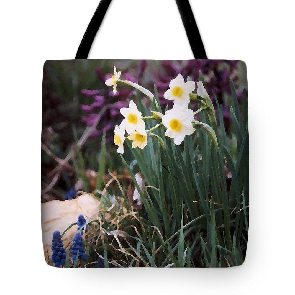 Flowers Tote Bag featuring the photograph Spring Garden by Steve Karol