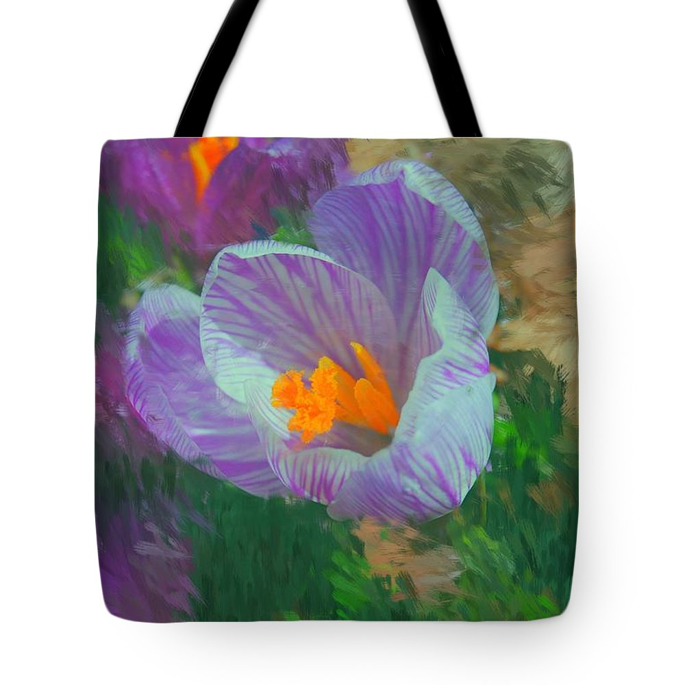 Digital Photography Tote Bag featuring the digital art Spring Has Sprung by David Lane