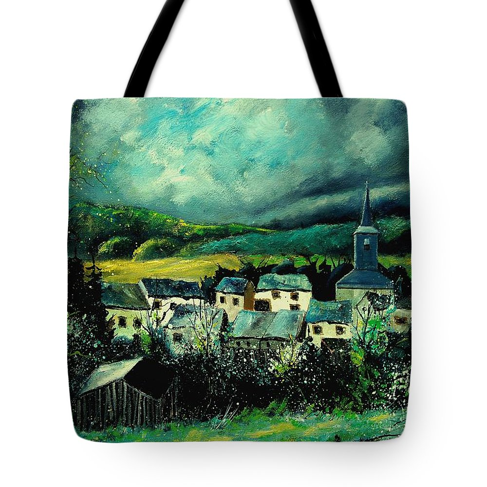 Tree Tote Bag featuring the painting Spring In Daverdisse by Pol Ledent