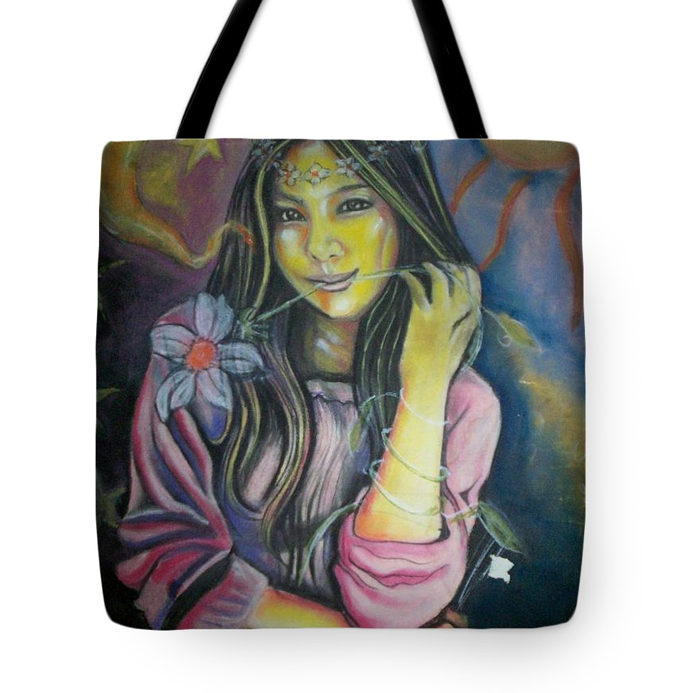 Pastels Tote Bag featuring the pastel Spring Is In The Air by Americo Salazar