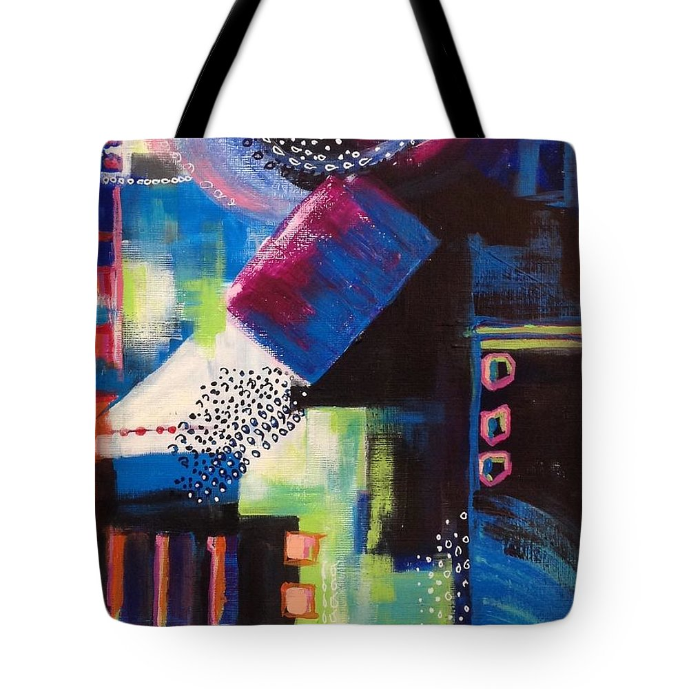 Abstract Painting Tote Bag featuring the painting Squiggles and Wiggles #6 by Suzzanna Frank