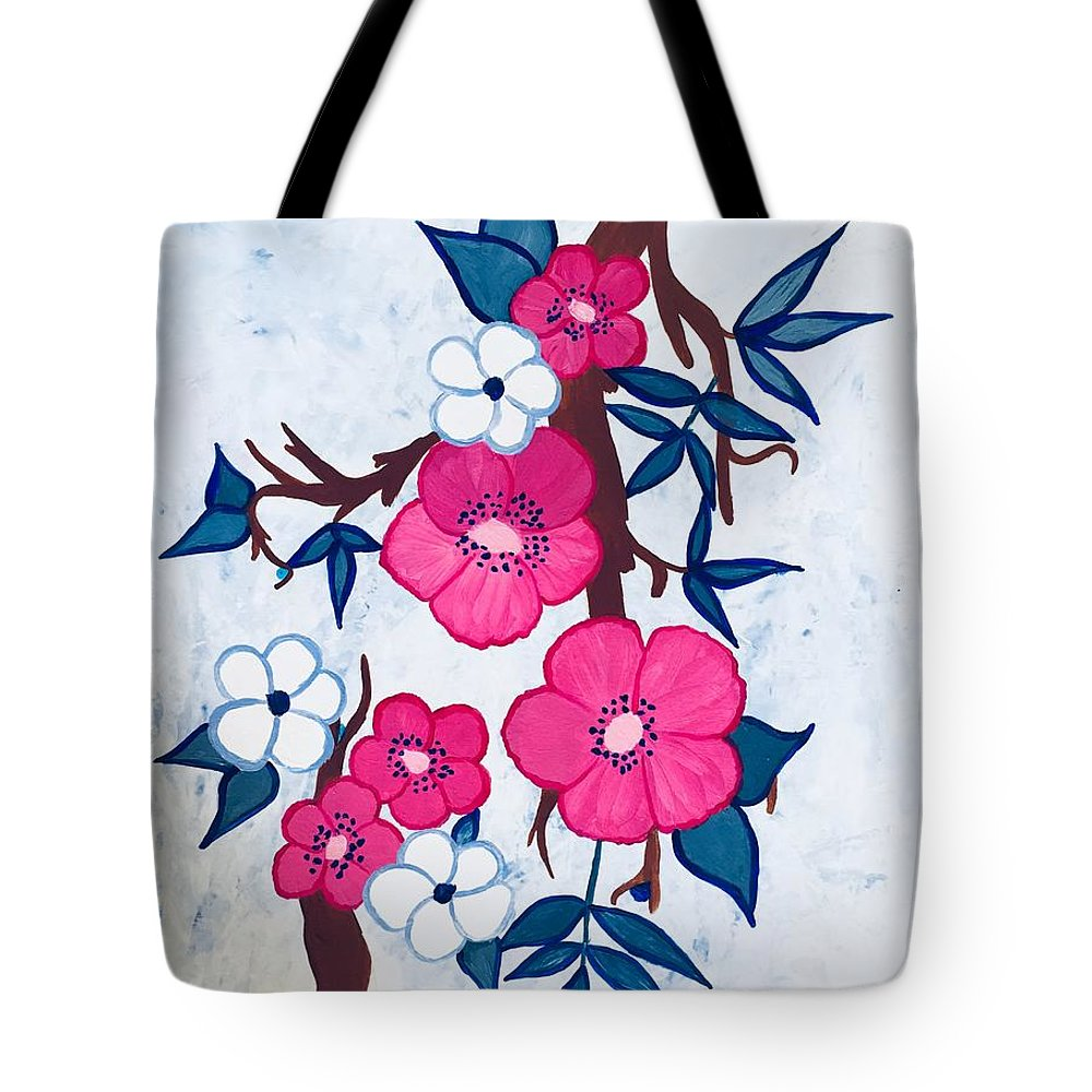 Flowers Tote Bag featuring the painting Spring by Marti Magna