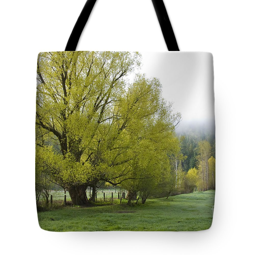 Tree Tote Bag featuring the photograph Spring Meadow by Idaho Scenic Images Linda Lantzy