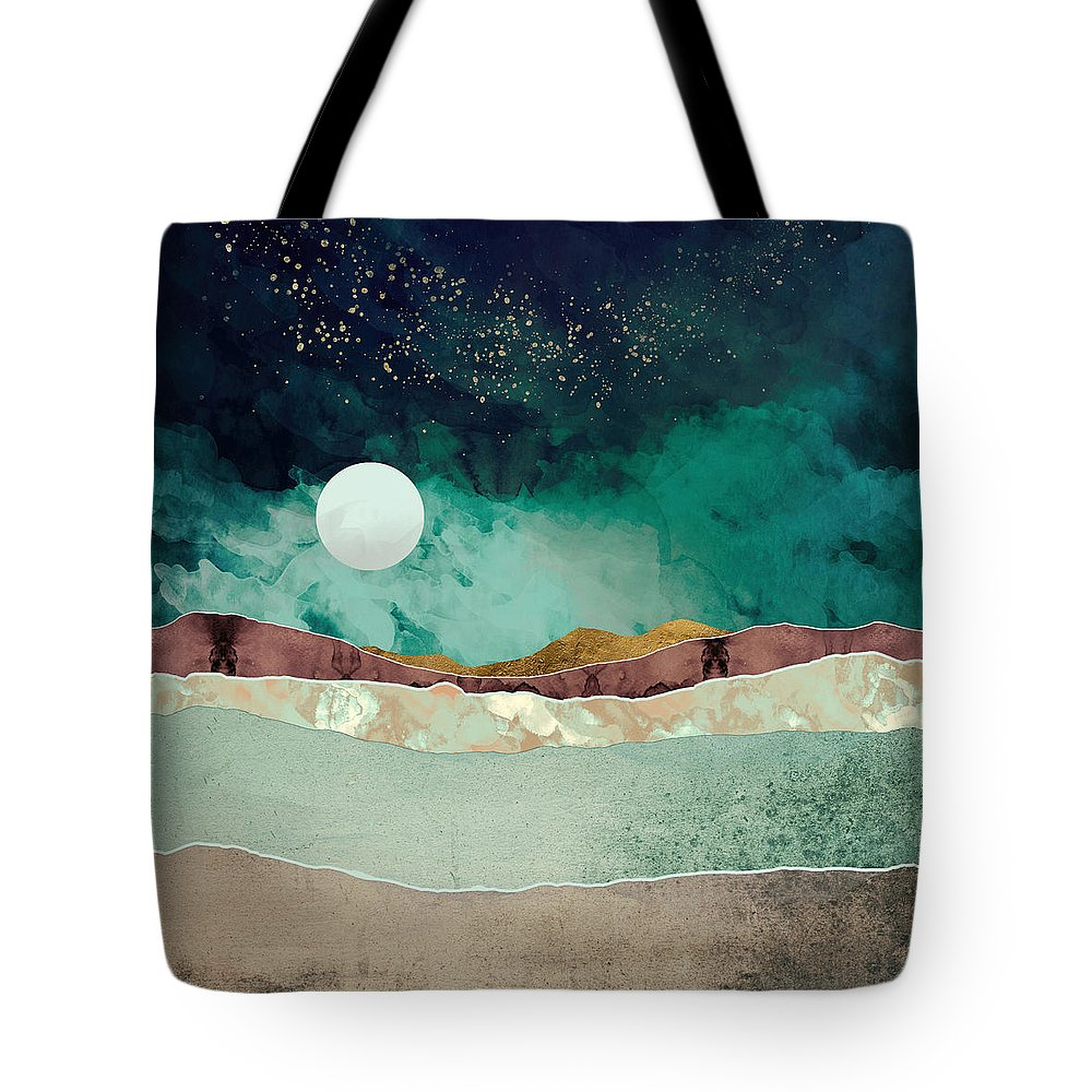 Spring Tote Bag featuring the digital art Spring Night by Katherine Smit